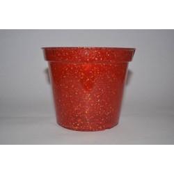 Kırmızı Plastik Simli Saksı