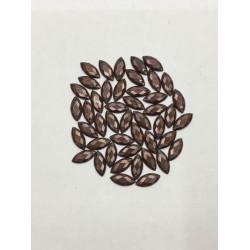 10 mm Kahverengi Desenli Delikli Arpa İnci