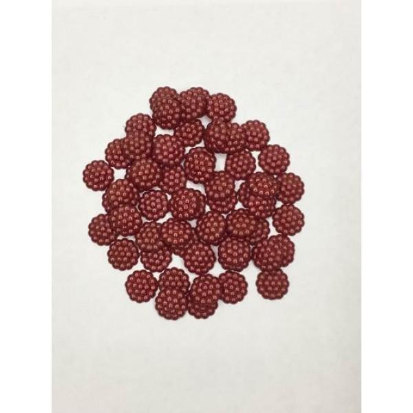 10 mm Koyu Kırmızı Böğürtlen İnci
