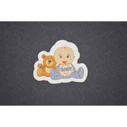 Ayıcıklı Erkek Bebek Stiker