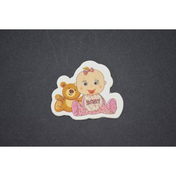 Ayıcıklı Kız Bebek Stiker