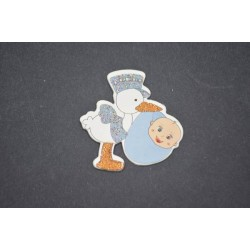 Erkek Bebek Taşıyan Leylek Stiker