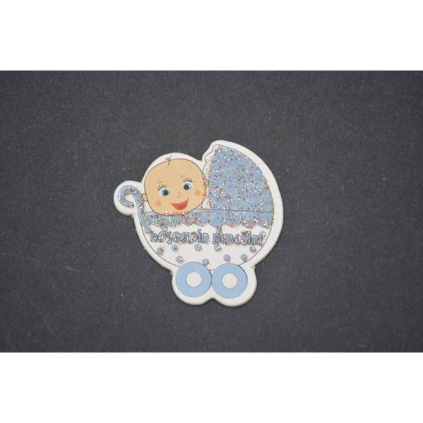 Mavi Puset Figürlü Stiker