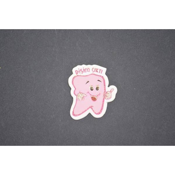 Pembe Diş Figürlü Stiker