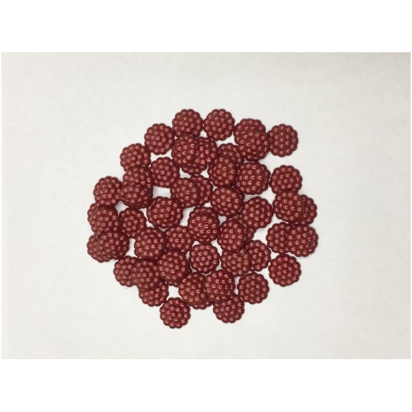12 mm Koyu Kırmızı Böğürtlen İnci