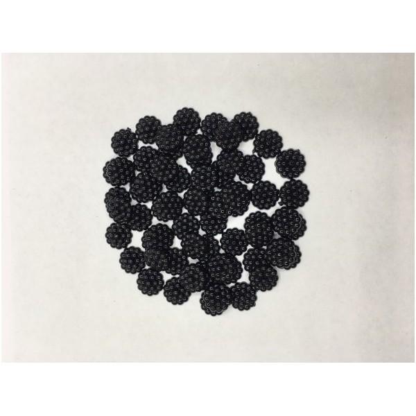12 mm Siyah Böğürtlen İnci