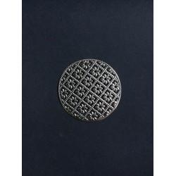 Gümüş Desenli Yuvarlak Broş