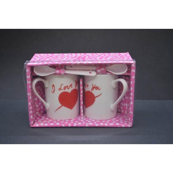 I Love You Yazılı Kahve Fincanı