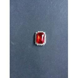 Kırmızı Kristal Taşlı Broş