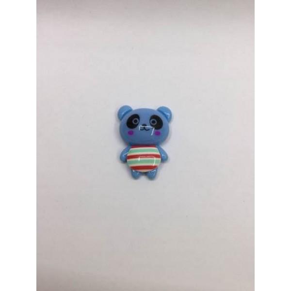 Mavi Panda Desenli Klips Boncuğu