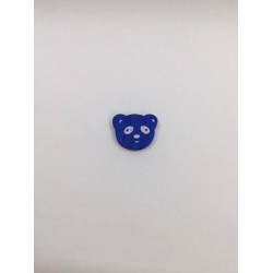 Mavi Renk Panda Desenli Ahşap Emzik Zinciri Boncuğu