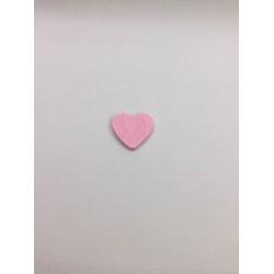 Pembe Kalp Desenli Ahşap Emzik Zinciri Boncuğu