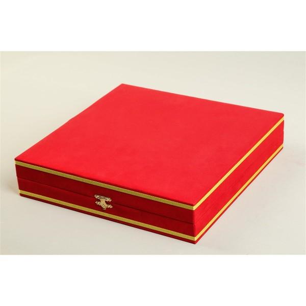 Kırmızı 30 cm Kadife Kutu