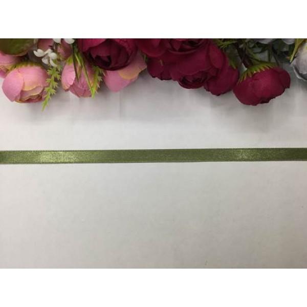 1 cm Asker Yeşili Saten Kurdela