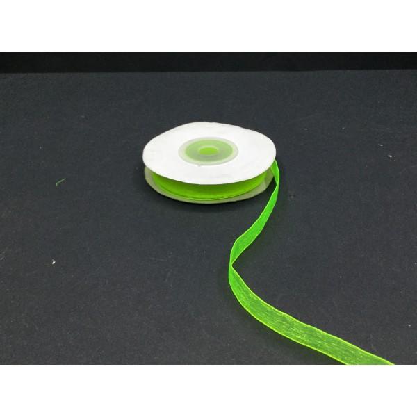 1 cm Fosforlu Yeşil Organze Kurdele