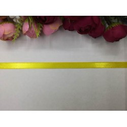 1 cm Koyu Sarı Saten Kurdela