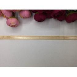 1 cm Sarı Şeritli Somon Renk Kurdele