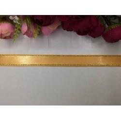 2 cm Altın Şeritli Açık Turuncu Saten Kurdela