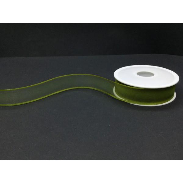 3 cm Koyu Yeşil Şifon Kurdele