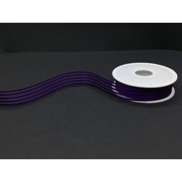 3 cm Lacivert Şeritli Şifon Kurdele
