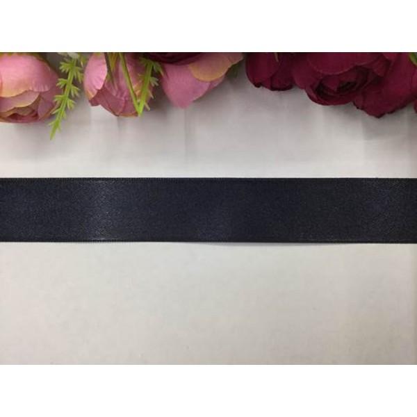 3 cm Siyah Saten Kurdela