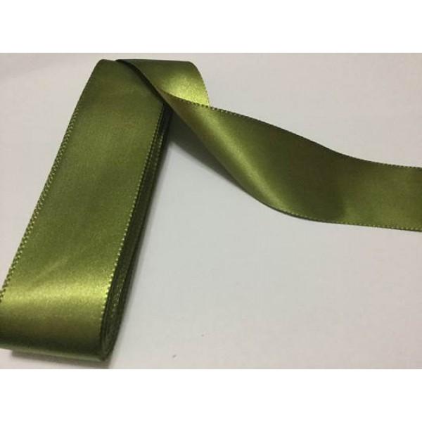 4 cm Asker Yeşili Saten Kurdela