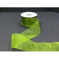4 cm Koyu Yeşil Organze Kurdele