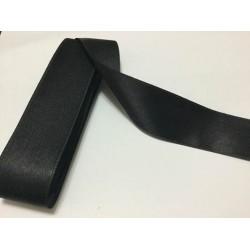 4 cm Siyah Saten Kurdela