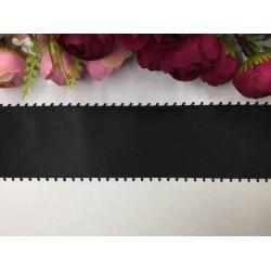 6 cm Siyah Dantelli Saten Kurdela