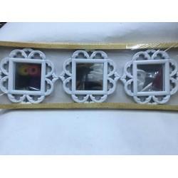 3 lü Kare Desenli Ayna