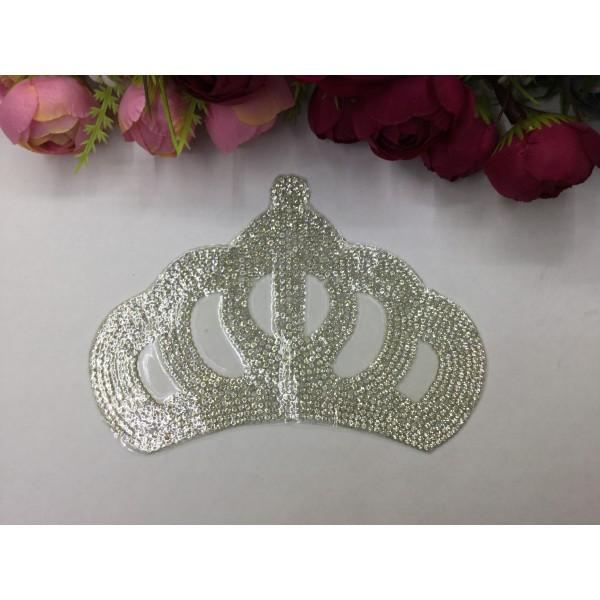 Ütüyle Yapışan Büyük Boy Kristal Kraliçe Tacı
