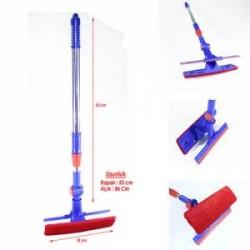 Cam silme mopu çekçekli uzayabilen teleskopik kol