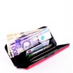 Kredi kartlık cüzdan silikon pembe
