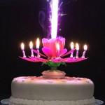 Müzikli Kendinden Açılan Sihirli Pasta Mumu