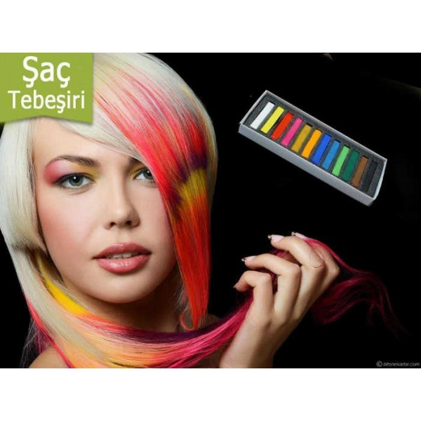Saç Tebeşiri Hair Chalk (12 Parça)